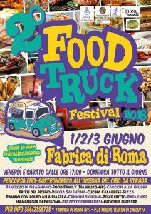 manifesto del Food Truck Festival 2018 a Fabrica di Roma