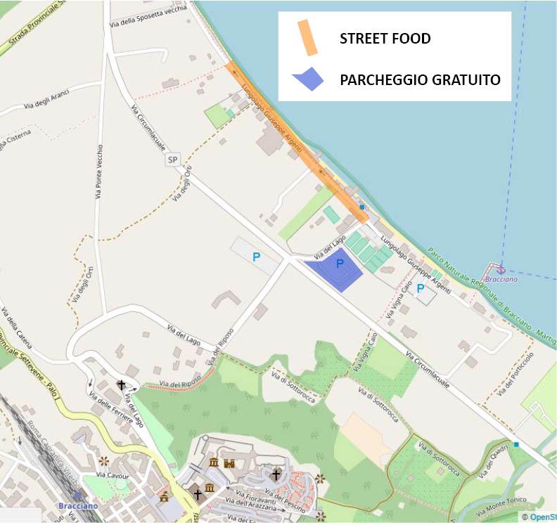 come raggiungere il festival street food e dove parcheggiare