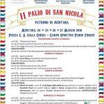 programma del Palio di San Nicola 2018 a Mentana