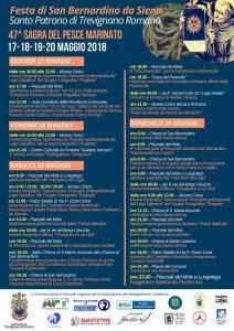 programma della Sagra del pesce marinato a Trevignano Romano 2018