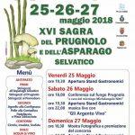 programma della Sagra del prugnolo e dell'asparago selvatico 2018 a Configni