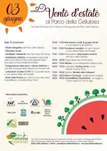 programma della festa al Parco della Cellulosa a Roma