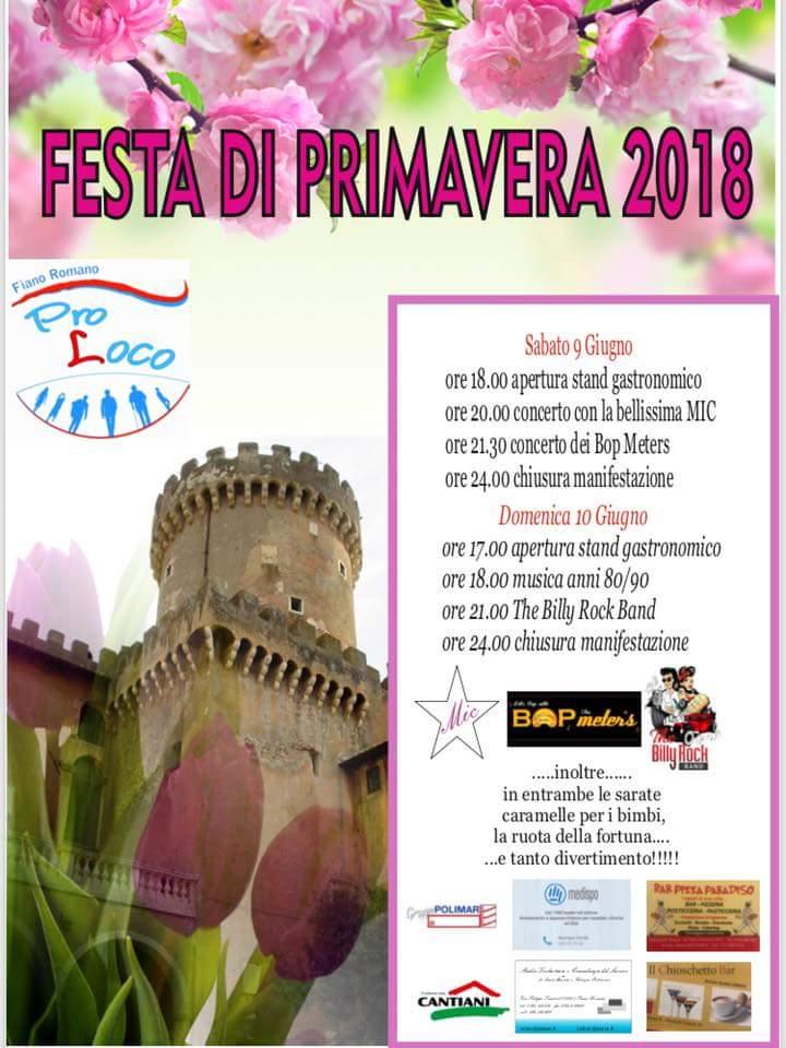 Festa di Primavera Fiano Romano 2018