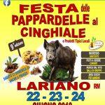 Festa delle pappardelle al cinghiale Lariano 2018