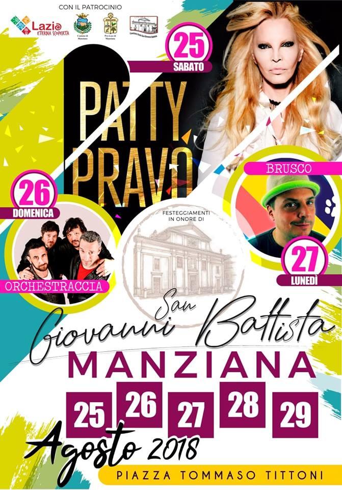 Festa di San Giovanni Battista Manziana 2018