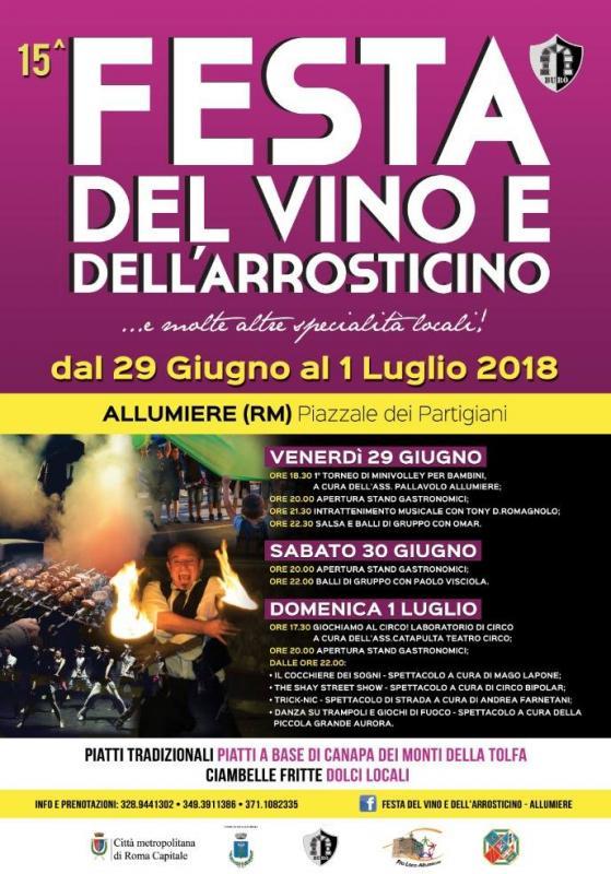 Sagra del vino e dell'arrosticino Allumiere 2018