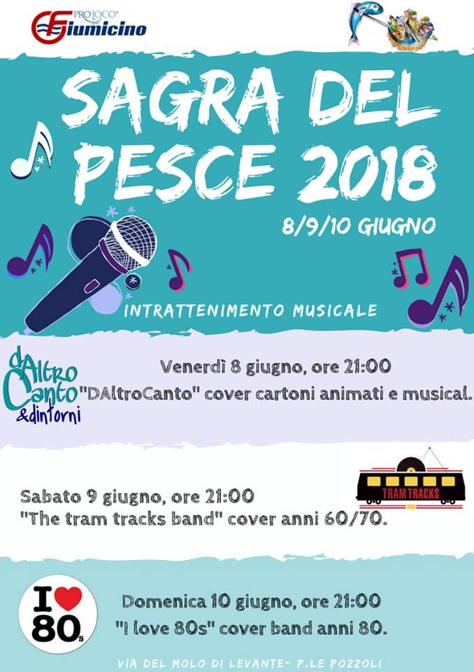 intrattenimento musicale della sagra del pesce di Fiumicino 2018