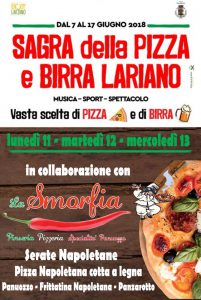 Serate napoletane durante la Sagra della pizza e della birra 2018 a Lariano