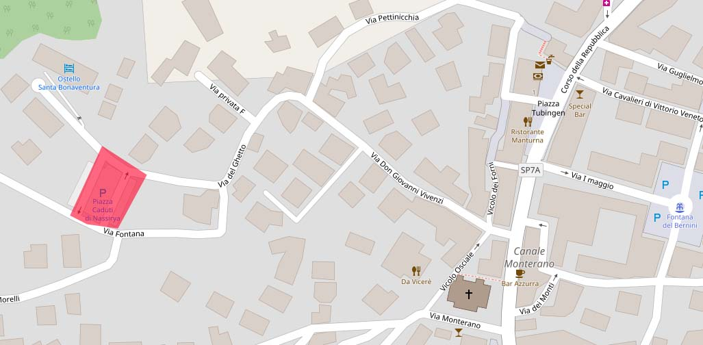 Piazza Caduti di Nassirya a Canale Monterano segnata sulla mappa