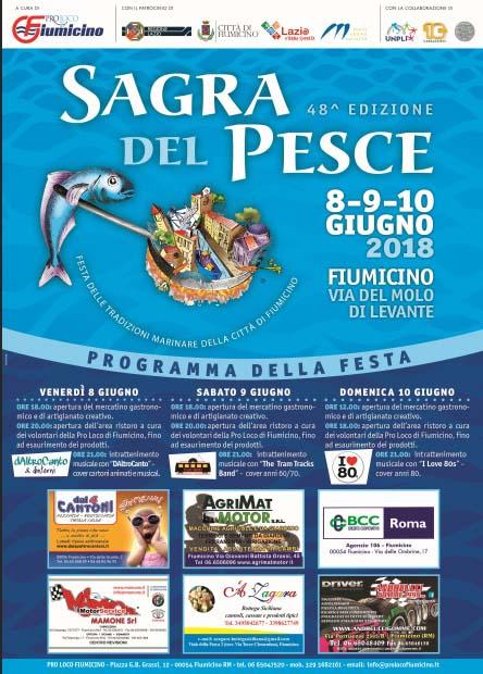 programma della Sagra del pesce 2018 di Fiumicino