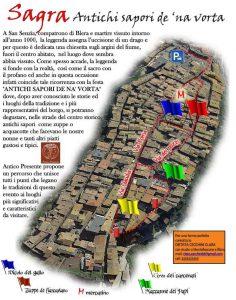 mappa gli stand gastronomici della Sagra degli antichi sapori de 'na vorta Blera 2018