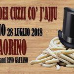 Sagra dei cuzzi con l'aglio Roviano 2018