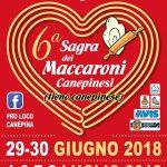 Sagra dei maccaroni canepinesi Canepina 2018
