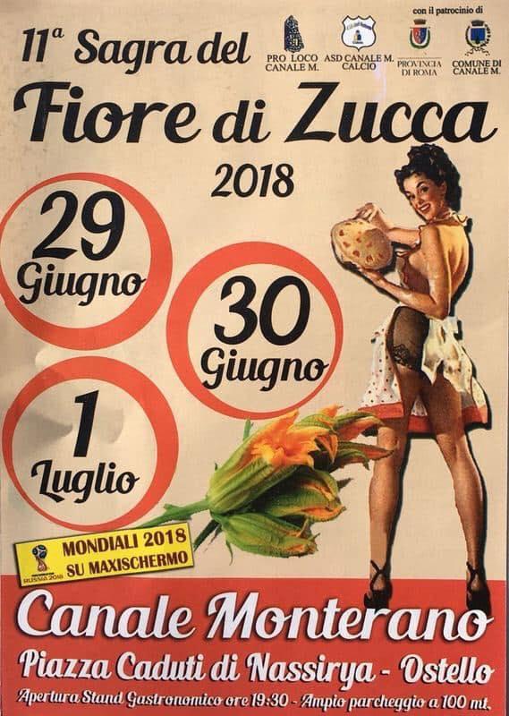 sagra dei fiori di zucca Canale Monterano 2018