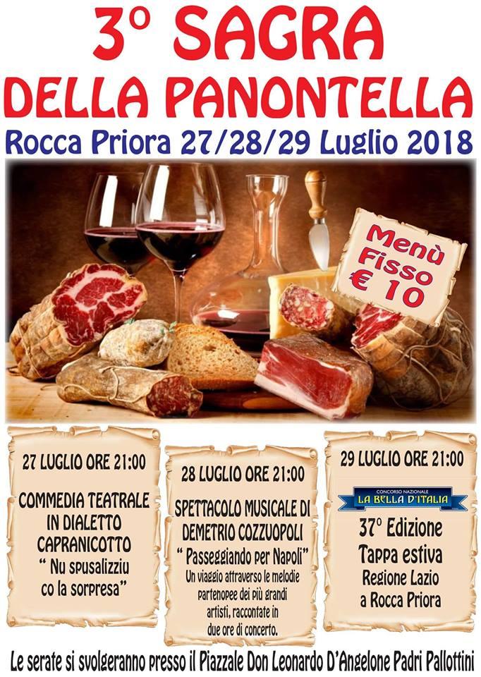 Sagra della panontella Rocca Priora 2018