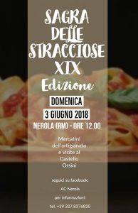 Sagra delle STRACCIOSE 2018 a Nerola