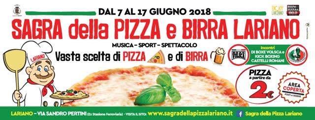 Sagra della pizza e della birra 2018 a Lariano