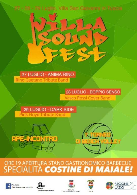 Villa Sound Fest 2018 programma Villa San Giovanni in Tuscia