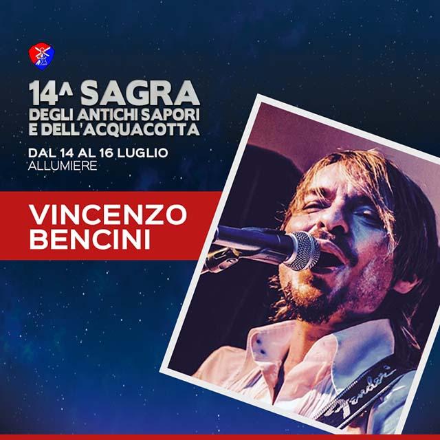 Vincenzo Bencini alla Sagra dell'acquacotta Allumiere 2018