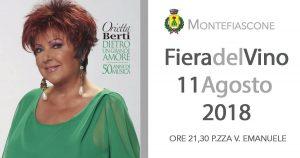 Programma della fiera del vino 2018: Orietta Berti