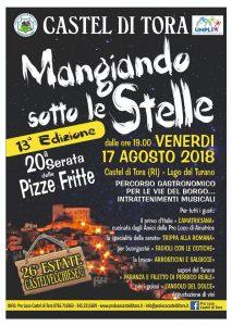 Mangiando sotto le stelle Castel di Tora 2018