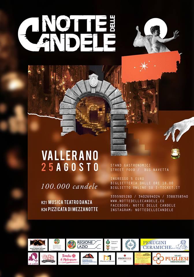 Notte delle candele Vallerano 2018