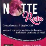 Notte Rosa Grottaferrata 2018