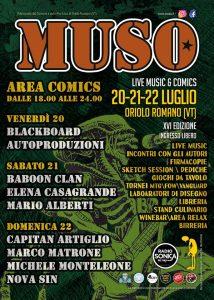 Programma area comix Muso festival 2018