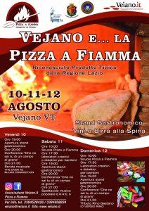 il programma della festa della pizza alla fiamma di Vejano