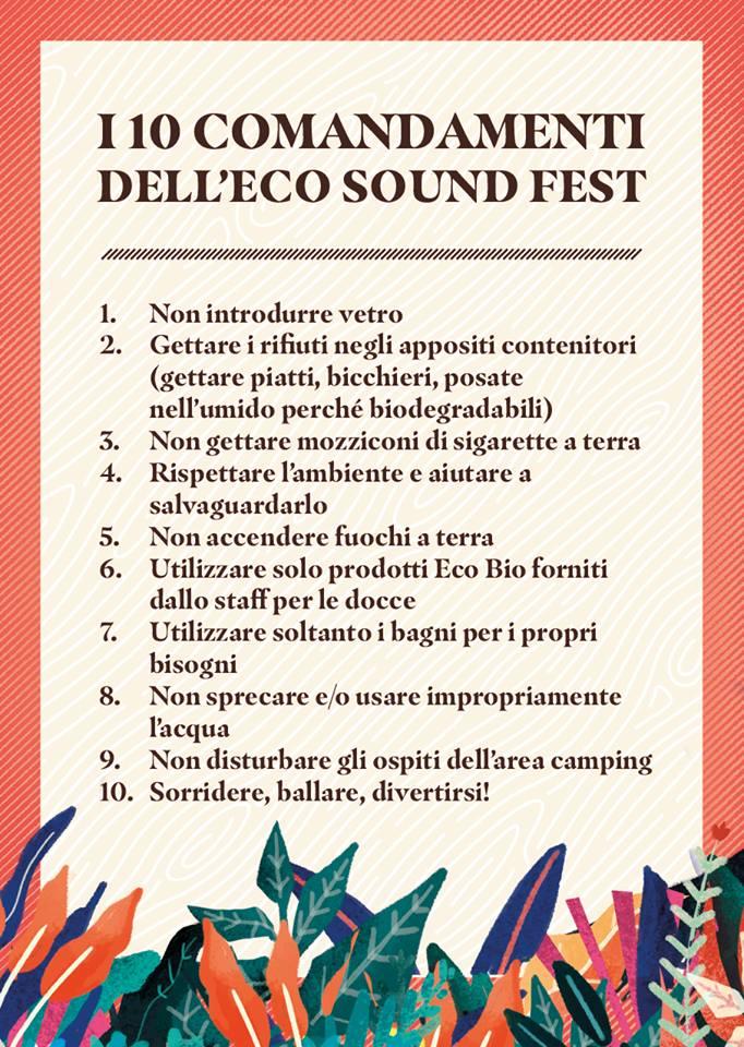 il regolamento dell'Eco Soung Fest di Caprarola