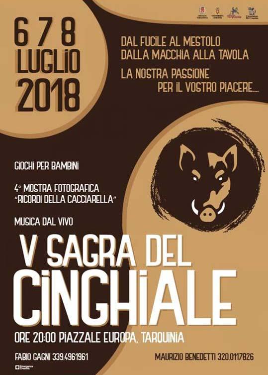 Sagra del cinghiale Tarquinia 2018
