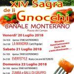 programma della sagra degli gnocchi a Canale Monterano 2018