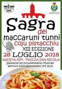 Sagra dei maccheroni con il pistacchio e degli strozzapreti Agosta 2018