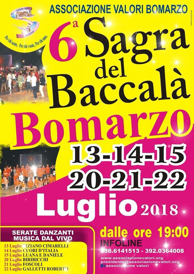 Sagra del baccalà Bomarzo 2018