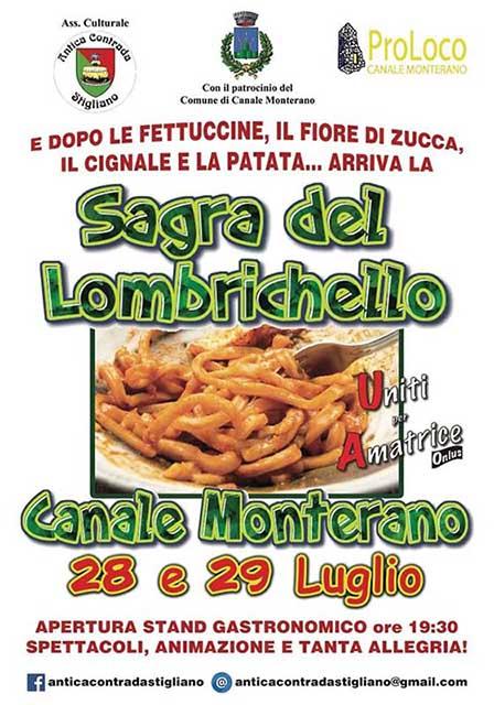 Sagra del lombrichello Canale Monteano 2018