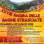 programma della Sagra delle sagne strisciate Paganico Sabino 2018