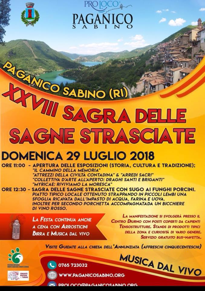 Sagra delle Sagne Strisciate Paganico Sabino 2018