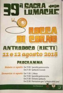 Sagra delle lumache Rocca di Corno (Antrodoco) 2018