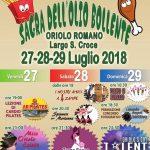 Sagra dell'olio bollente Oriolo Romano 2018