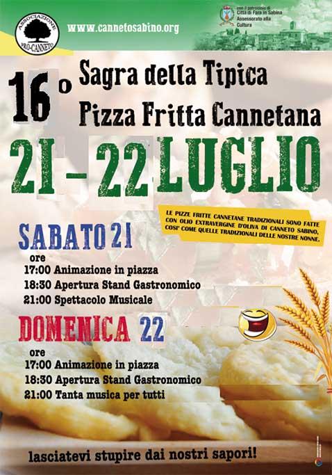 Sagra della pizza fritta Cannetana Canneto Sabino 2018