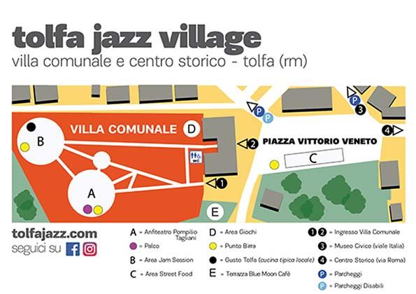 mappa del Tolfa Jazz 2018