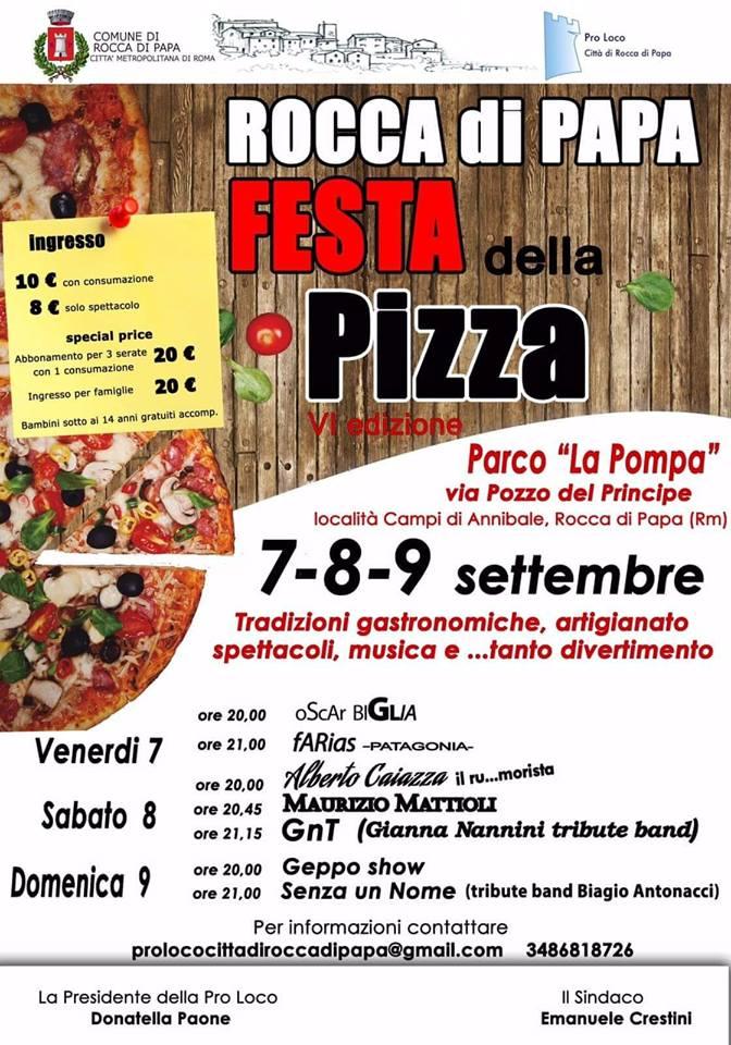 Festa della pizza Rocca di Papa 2018
