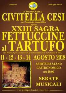 Sagra delle fettuccine al tartufo Civitella Cesi 2018