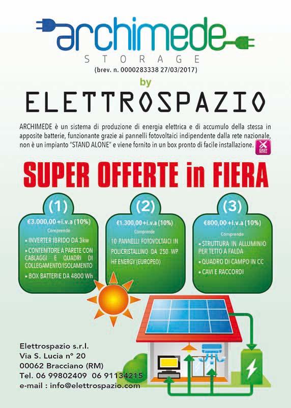 archimede è il sistema di accumulo energia elettrica da pannelli solari fotovoltaici
