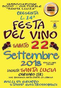 Festa del vino 2018 Cervaro (FR)