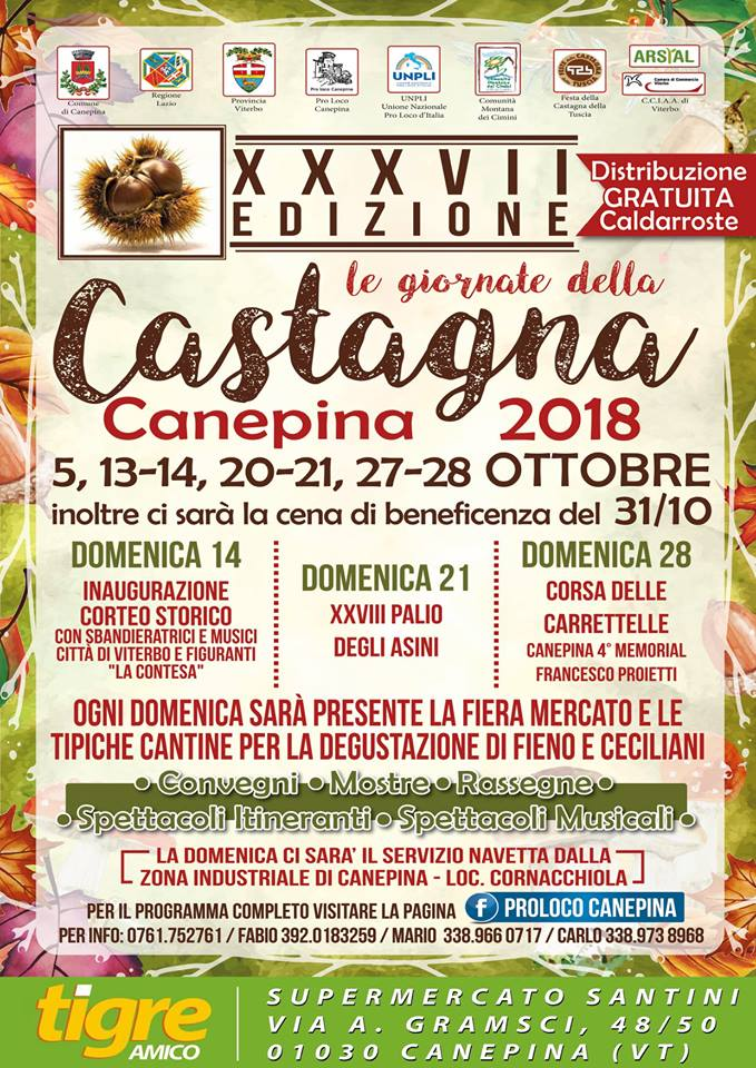 sagra della castagna Canepina 2018