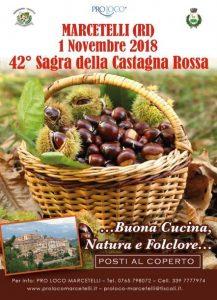 Sagra della Castagna Rossa 2018 a Marcetelli (RI)