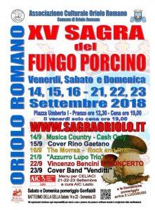 Festa del fungo porcino Oriolo Romano 2018