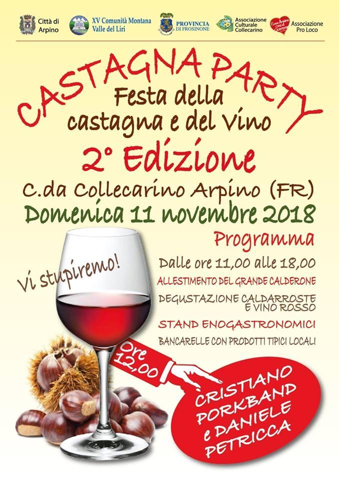 Festa della castagna e del vino Collecarino Arpino 2018