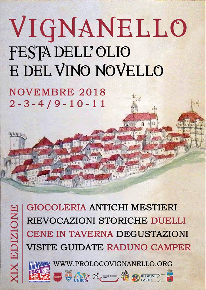 festa dell'olio e del vino novello Vignanello 2018